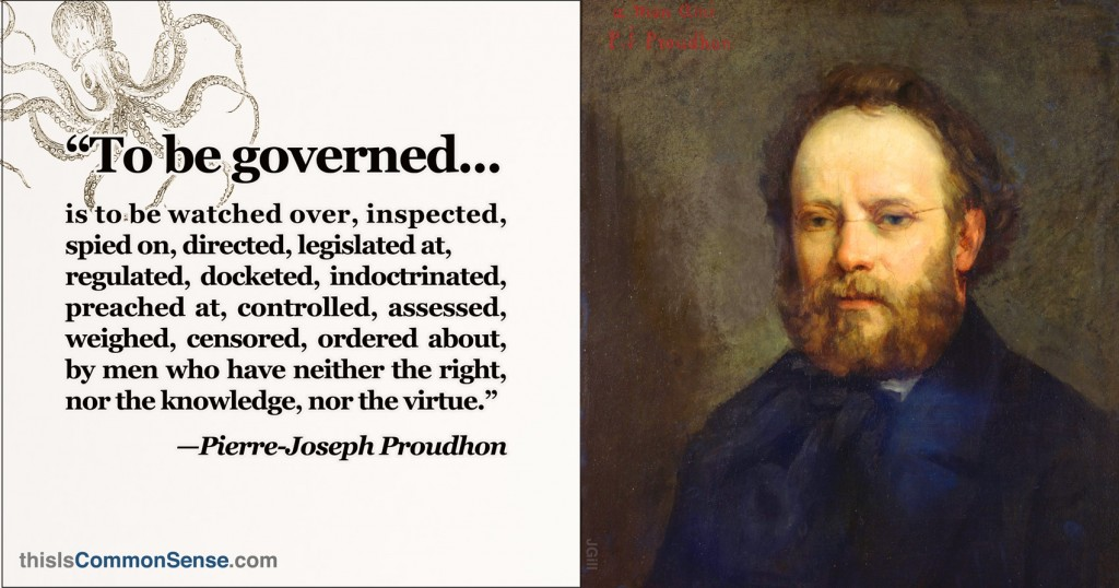 "Proudhon — ""To Be Governed"""