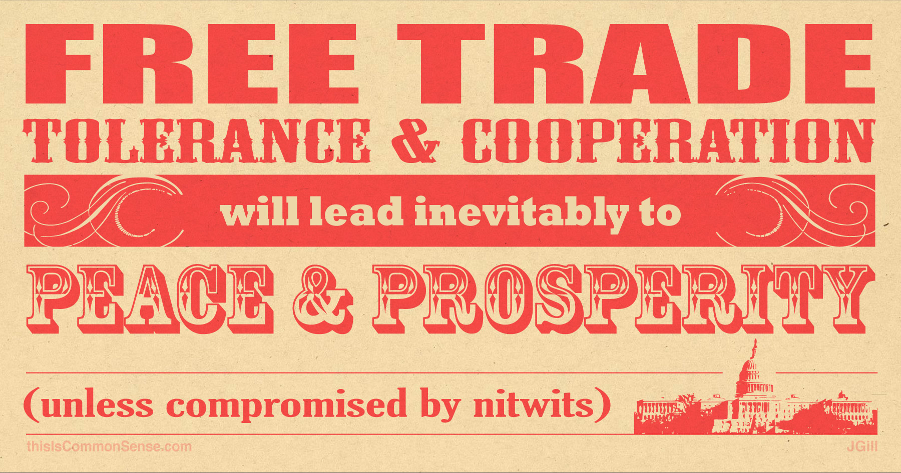 Free Trade, Tolerance and Cooperation lead to Peace and Prosperity