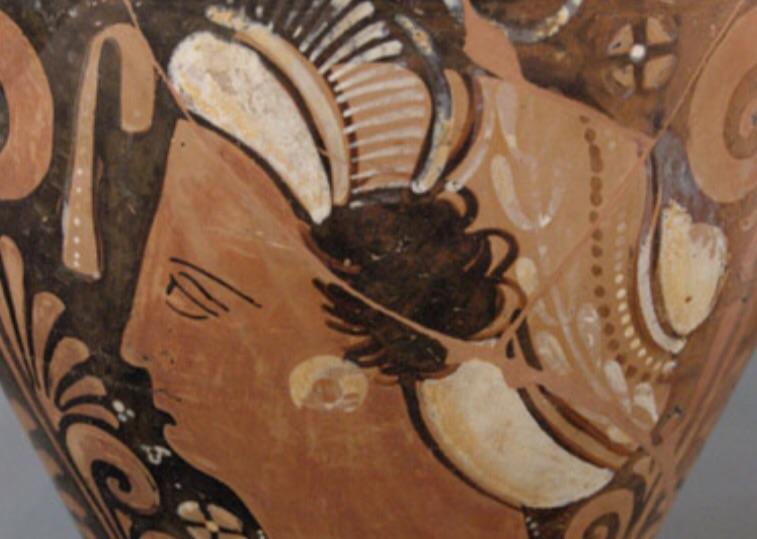 Greek urn female figure