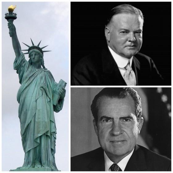 Statue of Liberty, Herbert Hoover, Dick Nixon