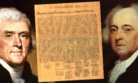 Jefferson-Adams-Declaration