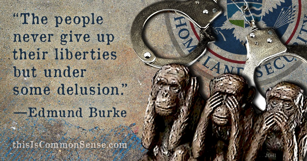 "Edmund Burke – ""The people never give up their liberties but…"""