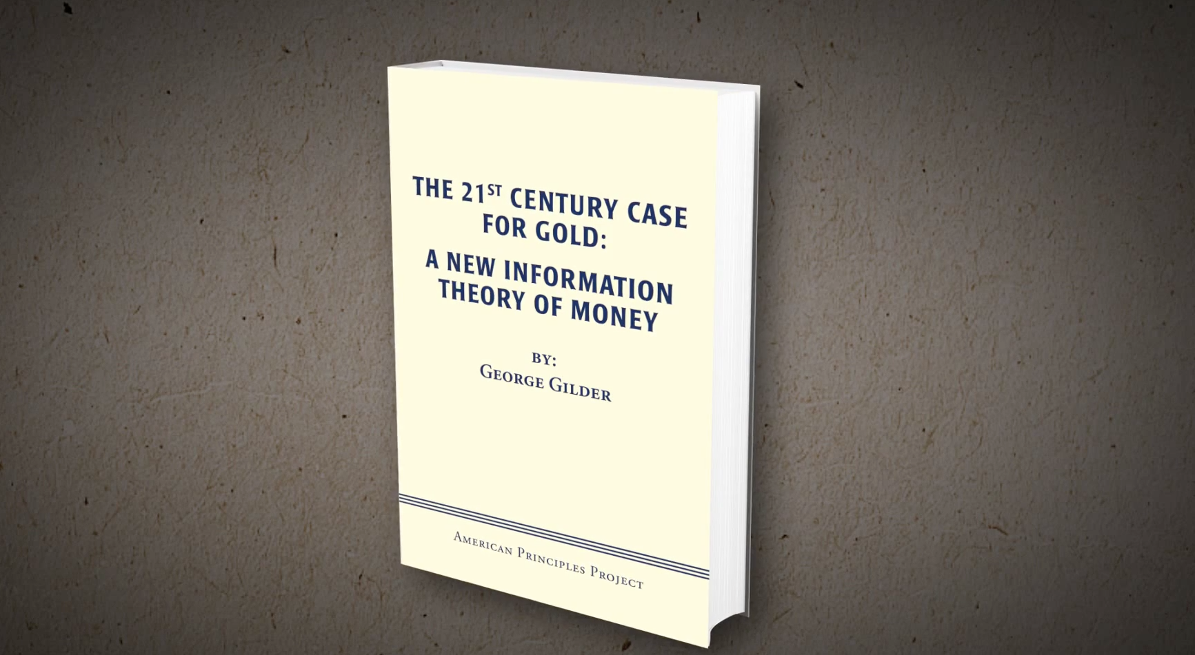 New Gilder Book on Money