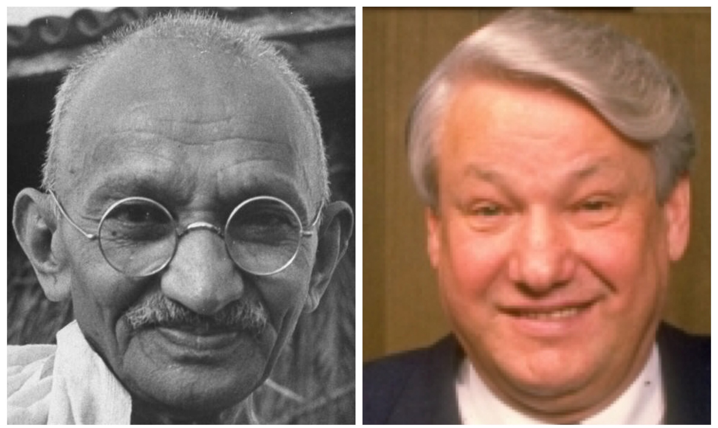 Gandhi and Yeltsin