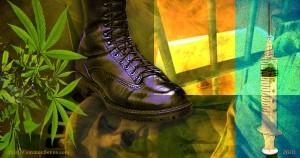 Jack boot, photomontage, collage, James Gill, Paul Jacob, Common Sense
