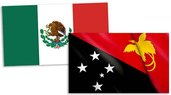 MexicoANDpapuaNGflags