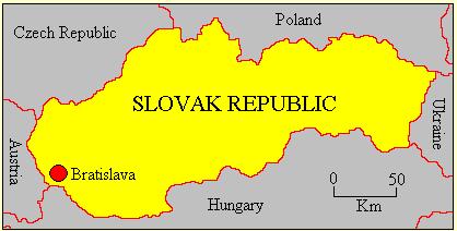 Slovak Republic map
