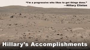 I'm a progressive who likes to get things done, Hillary Clinton, accomplishments, meme, Paul Jacob, Common Sense, progressive, progressivism