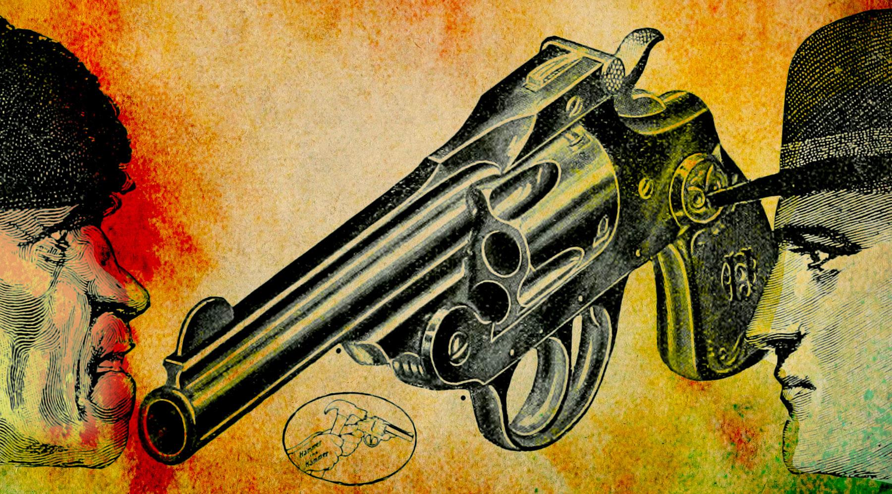 self defense, gun, responsibility, terrorism, collage, photomontage, JGill, Paul Jacob, Common Sense