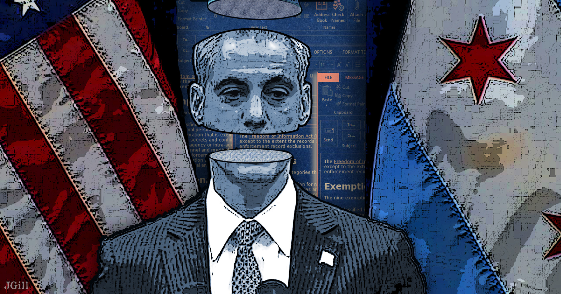 Rahm Emanuel, Chicago Tribune, Chicago, transparency, government, collage, photomontage, JGill, Paul Jacob, Common Sense