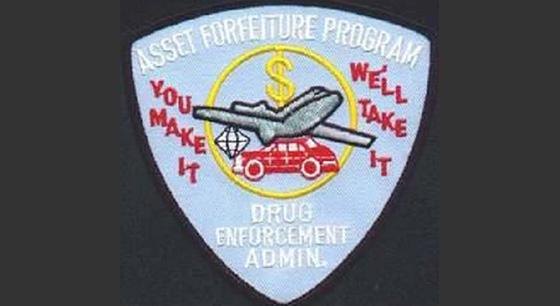 DEA asset forfeiture patch