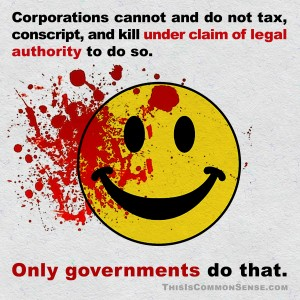 corporations, government, power, danger, government vs. corporation, which is more dangerous, law, corruption, meme, illustration, Jim Gill, Paul Jacob, Common Sense