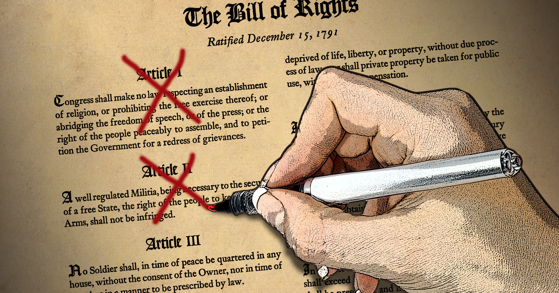 Bill of Rights, Ten Amendments, Freedom of Speech, Bear Arms, Common Sense