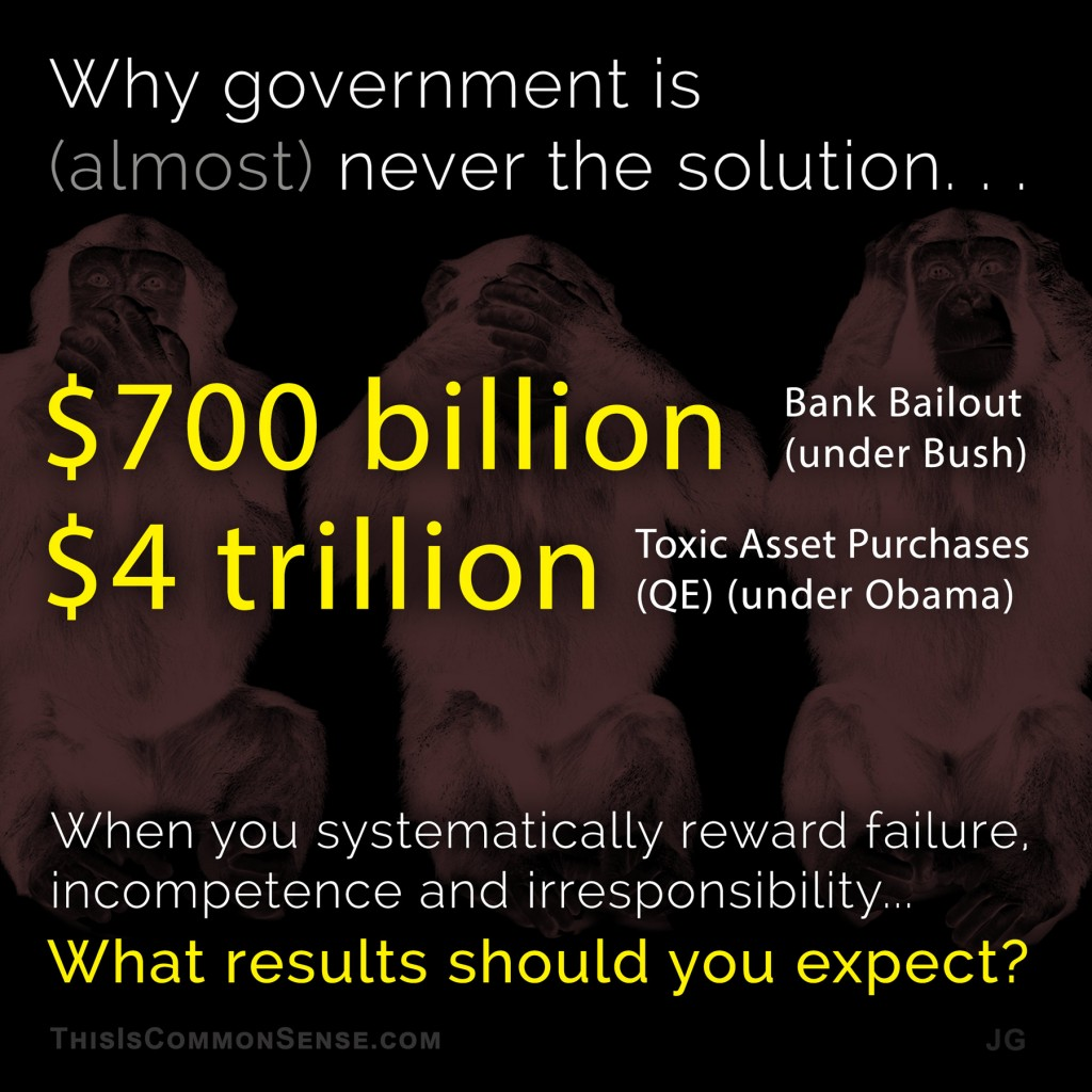 Why government is (almost) never the solution. . .