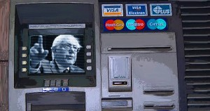 ATM, Bernie Sanders, economics, fallacy, Common Sense, illustration