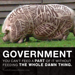 big government, abuse, war, drug war, bureaucracy, libertarian, libertarianism, liberty, statism, statists, meme, illustration, Common Sense, James Gill, Paul Jacob