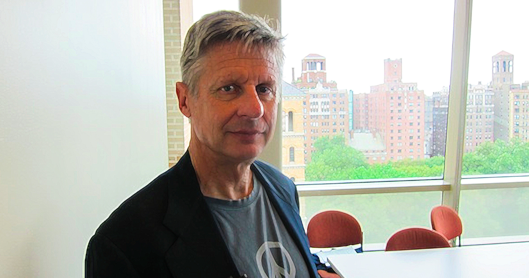 Gary Johnson, libertarian, burka, Common Sense, illustration