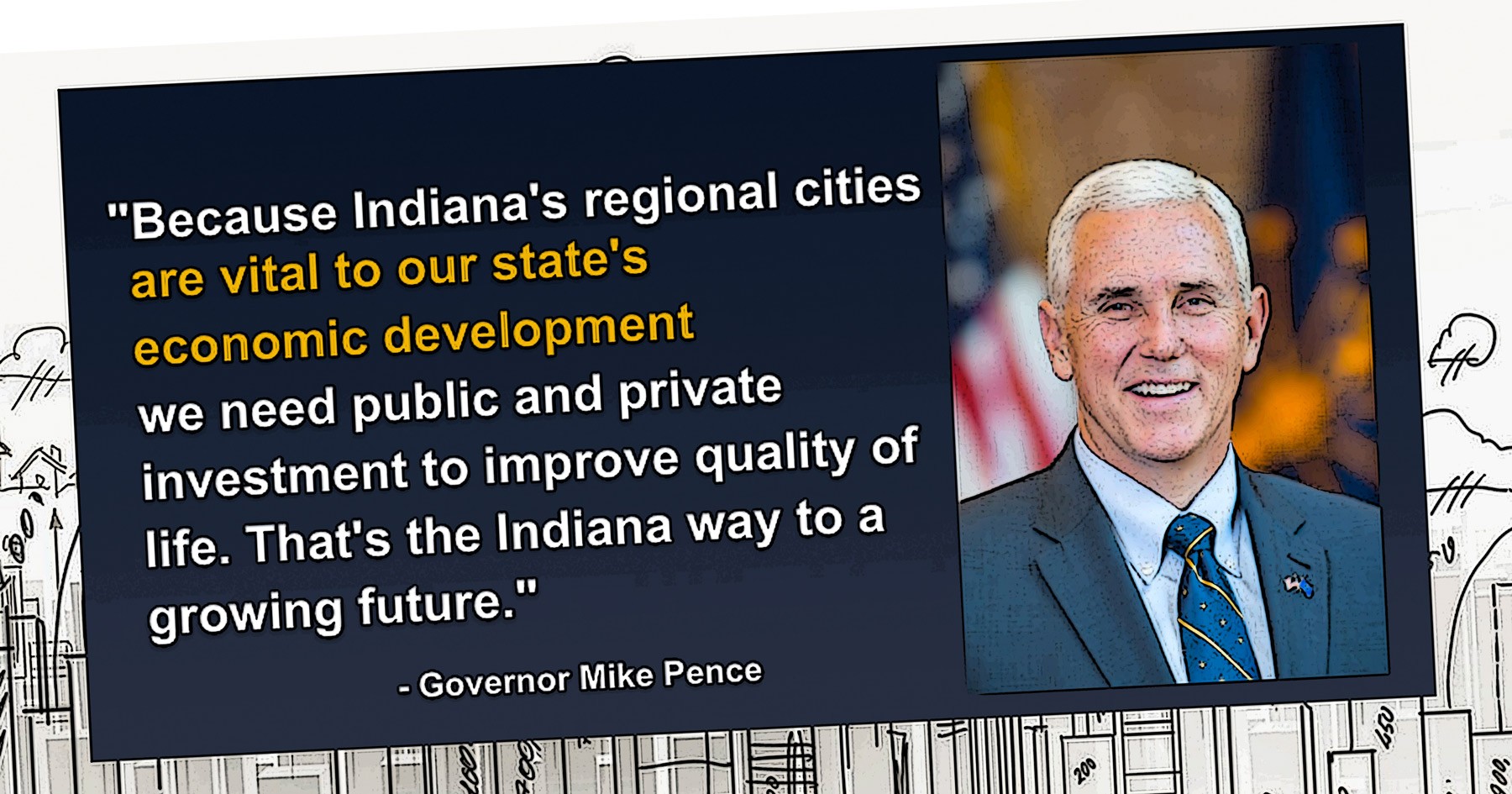 Indiana, pork, Mike Pence, Regional Cities initiative, Common Sense, illustration