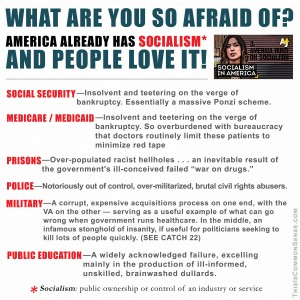 What are you so afraid of, people love it, people love socialism, American socialism, success, Bernie Sanders, real socialism, socialism, meme, American Socialism, public ownership, definition, meme, illustration, Jim Gill, Paul Jacob, Common Sense