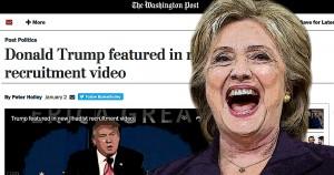Hillary Clinton, Donald Trump, Washington Post, Bias, video, Common Sense, illustration
