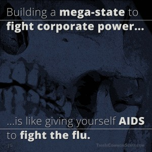 mega-state, government, corporation, corporate power, state, meme, illustration