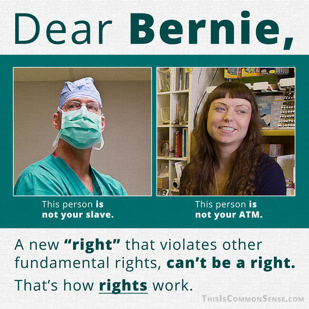 Dear Bernie: Here's How Rights Work. . .