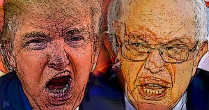 Donald Trump, Bernie Sanders, cranks, nuts, populists, illustration