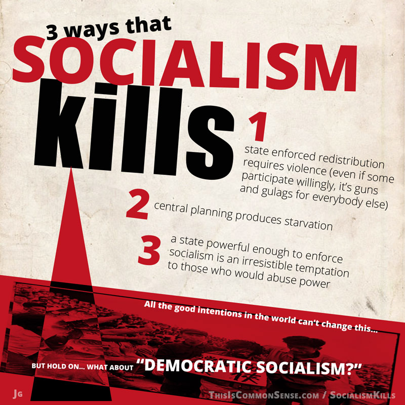 socialism kills, redistribution, how socialism kills, why socialism kills, meme, illustration