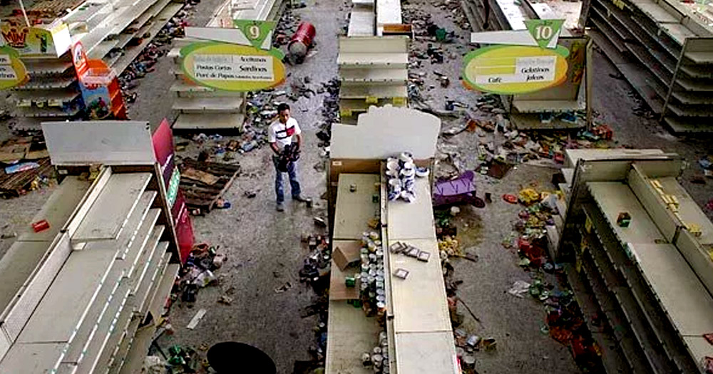 Venezuela, store, socialism, column