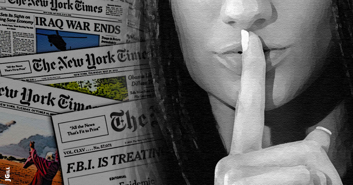 Gray Lady, New York Times, NYT, political correctness, free speech, illustration