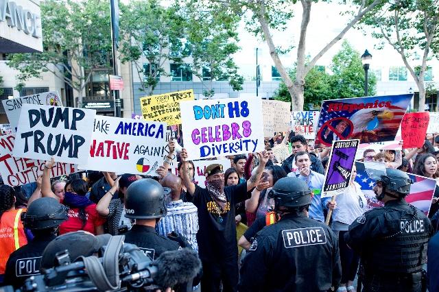 San Jose Anti-Trump riots