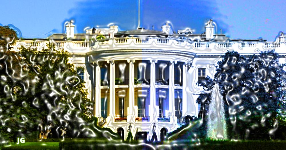 teflon, white house, Hillary Clinton, Obama, corruption, illustration