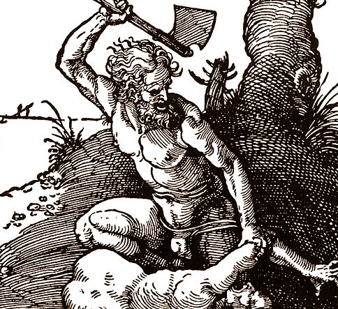 Albrecht Dürer, Cain Killing Abel, detail