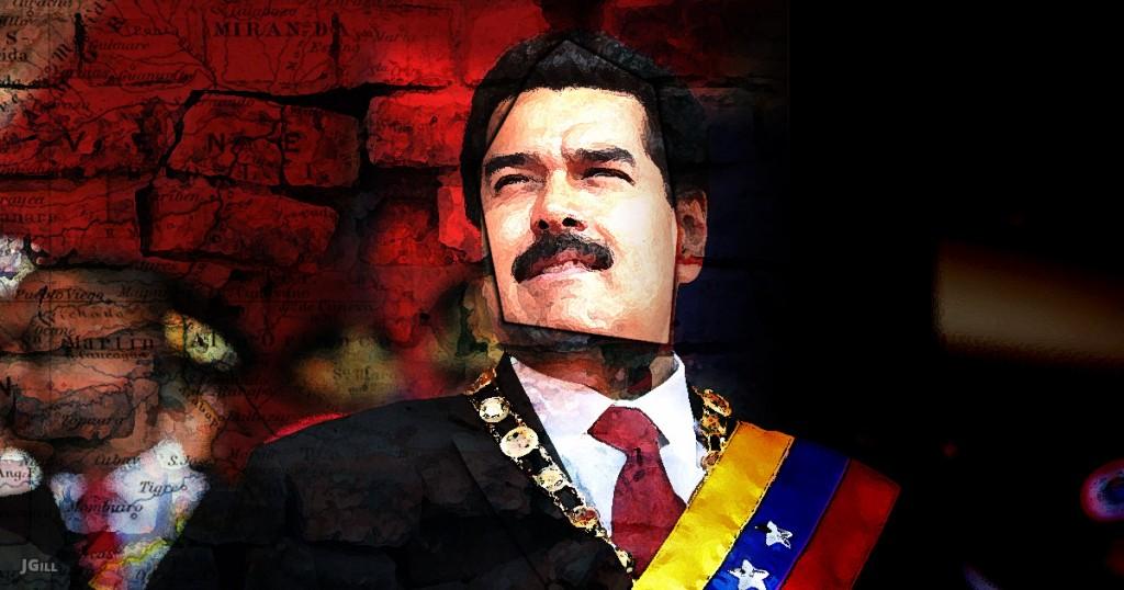 Maduro, Venezuela, socialism, collapse, illustration