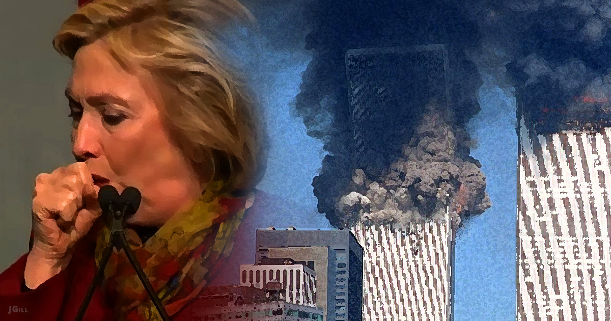 Hillary Clinton, health, 911, illustration