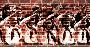 National Service, David Brooks , Mayor Rahm Emanuel , illustration, children, brick wall, illustration