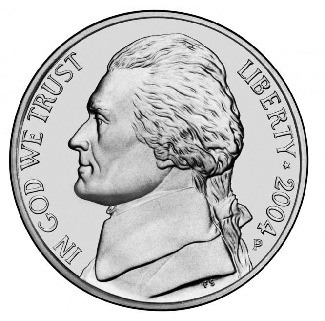 Jefferson Nickel 2004