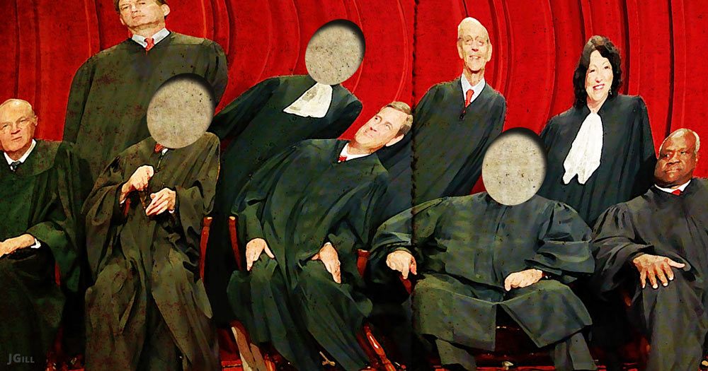 Supreme Court, Congress, Hillary Clinton, Donald Trump, election, illustration
