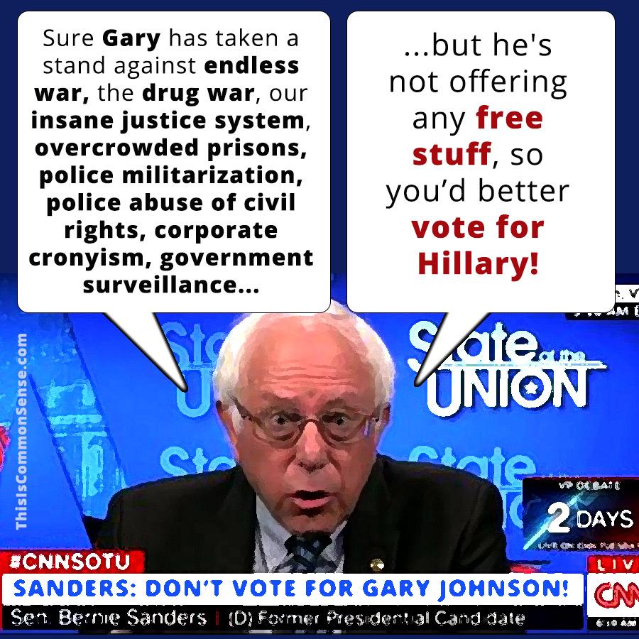 Bernie's Principled Recommendation