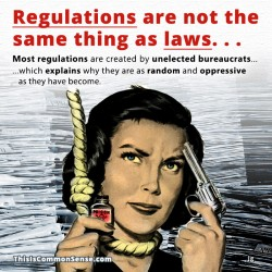 Laws vs. Regulations. . .