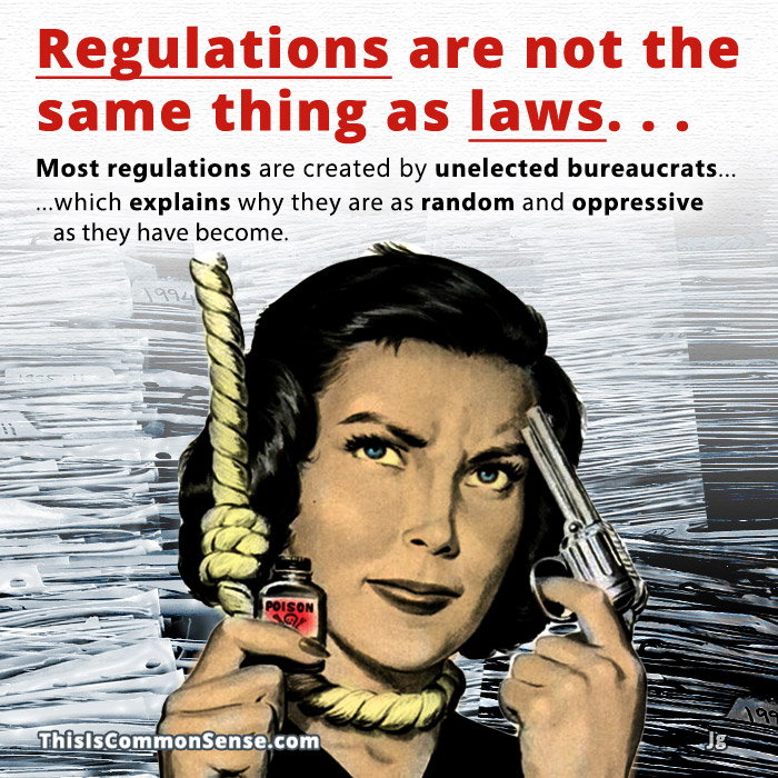 laws, regulations, rights, meme, illustration, Regulations are not the same thing as laws