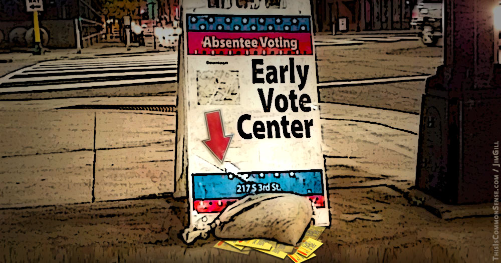 vote, early, often, democracy, early voting, illustration, joke, meme