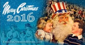 Christmas, Common Sense, American, freedom, Paul Jacob, patriotic, citizen, illustration, Christmas Card
