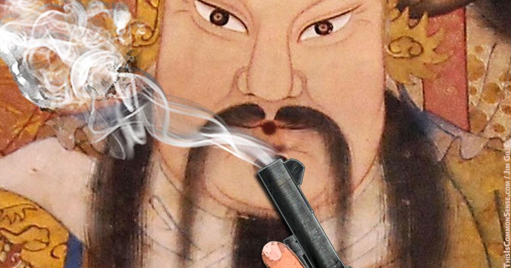 gun, control, gun control, freedom, Confucius, disarm, defense, Mencken, illustration