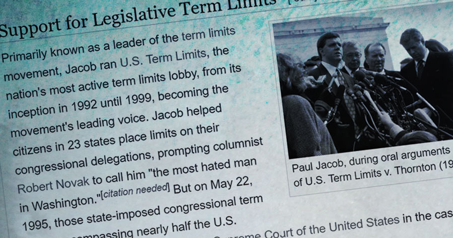 Term Limits, Paul Jacob, Donald Trump
