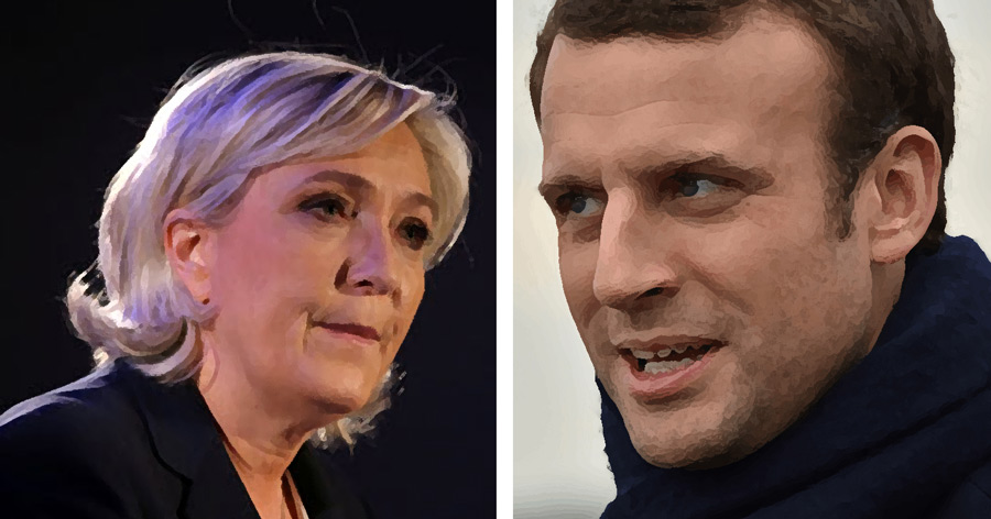 Emmanuel Macron, Marine Le Pen, France, French, elections, immigration, government,