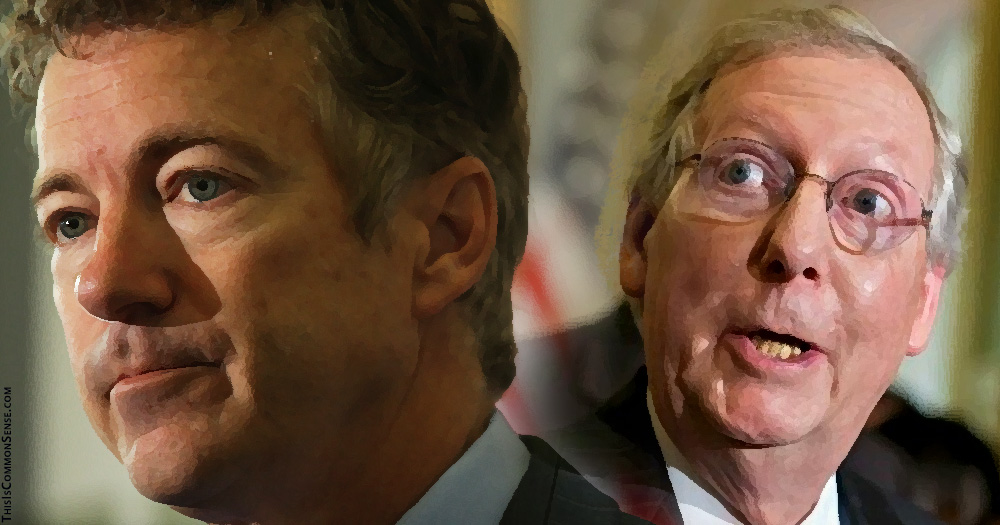 Mitch McConnell, Rand Paul, ObamaCare, healthcare bill, opposition