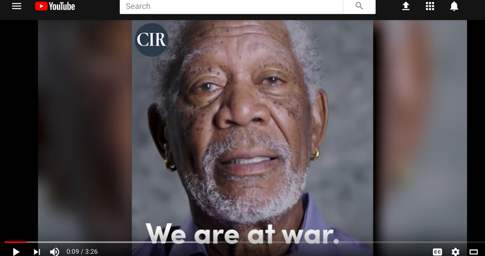 Russia, war, hack, propaganda, Morgan Freeman, video