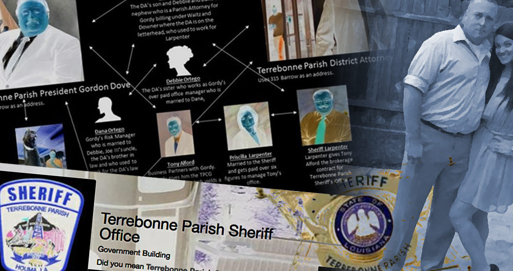 Terrebonne Parish, Sheriff, Jerry Larpenter, free speech, First Amendment, abuse, ExposeDAT, Jennifer Anderson