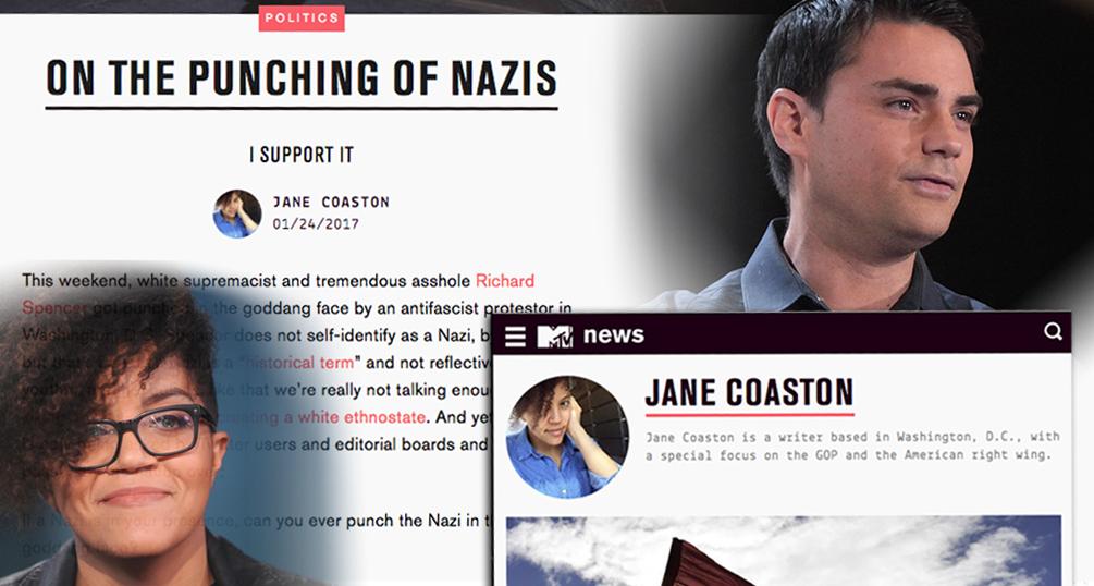 Ben Shapiro, Jane Coaston, The New York Times, Nazis, violence, free speech, First Amendment